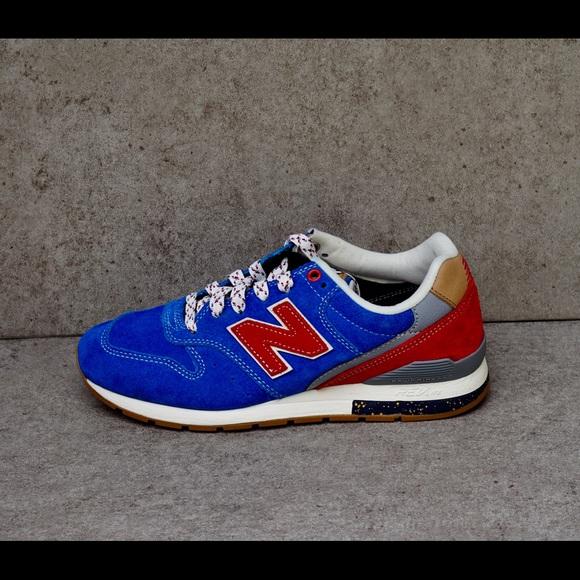Balance 996 Bluered Suede Shoes | Poshmark